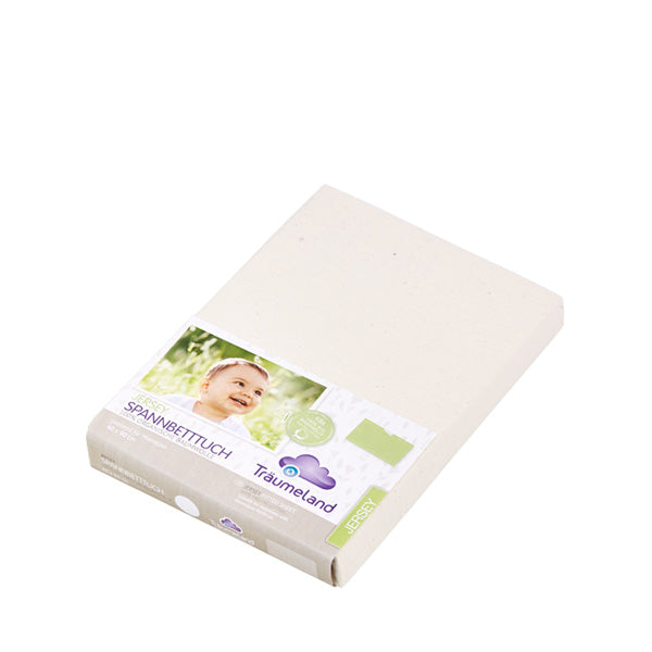 Bednest Organic Jersey Fitted Sheet – Cream