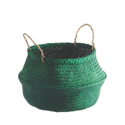 Seagrass Belly Basket – Green