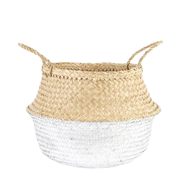 Natural Belly Basket - Silver Dipped