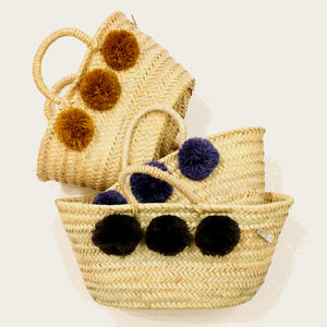 Bohemia Design Mini Pom Pom Basket – Charcoal