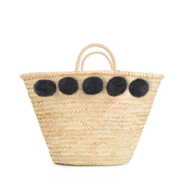 Bohemia Design Pom Pom Basket – Charcoal