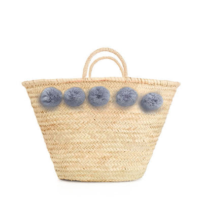 Bohemia Design Pom Pom Basket – Grey
