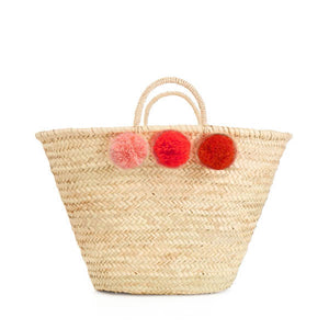 Bohemia Design Pom Pom Basket – Orange Ombre