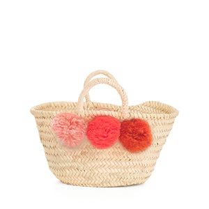 Bohemia Design Mini Pom Pom Basket – Orange Ombre