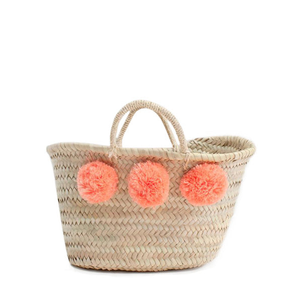 Bohemia Design Mini Pom Pom Basket – Peach