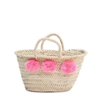Bohemia Design Mini Pom Pom Basket – Powder Pink