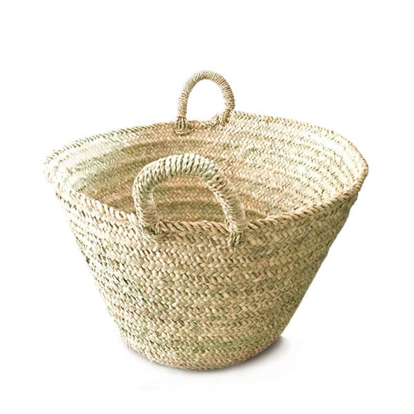 Bohemia Design Woven Palm Leaf Basket Natural
