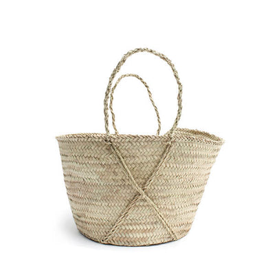 Bohemia Design Handmade Palm Leaf Cross Basket