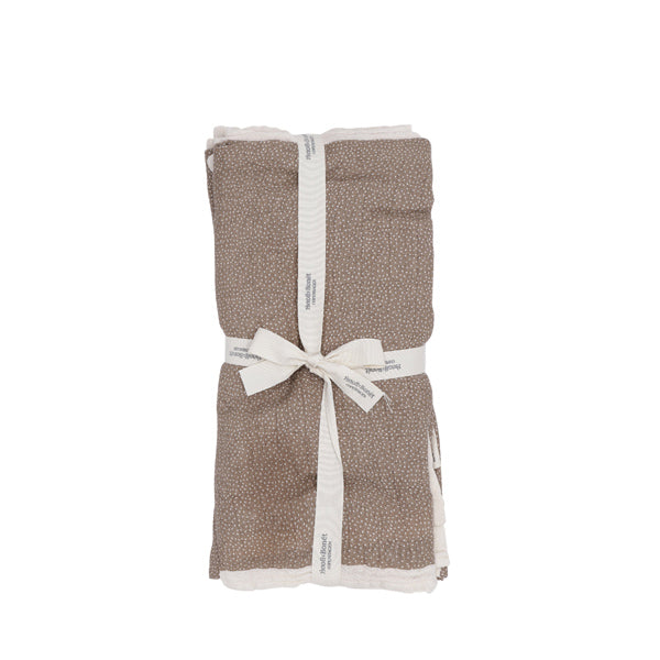 Bonét et Bonét Muslin Cloth 4-Pack - Almond Dot