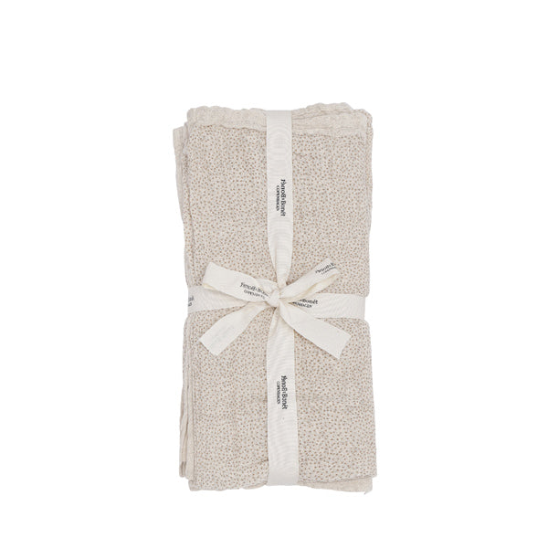 Bonét et Bonét Muslin Cloth 4-Pack - Sand Shell Dot