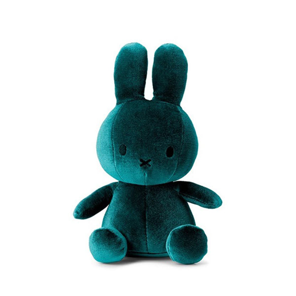Miffy Velvet Soft Toy – Dark Teal