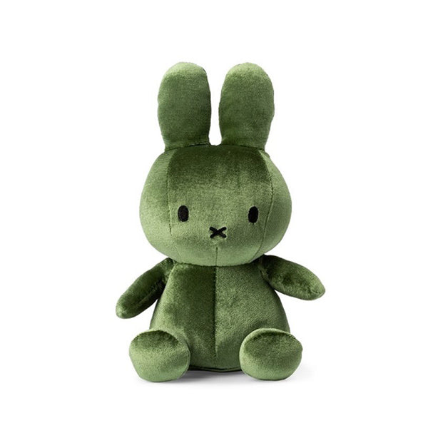 Miffy Velvet Soft Toy – Moss Green