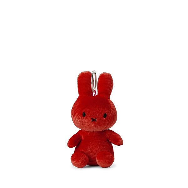 Miffy Velvet Keychain – Candy Red