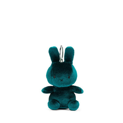 Miffy Velvet Keychain – Dark Teal