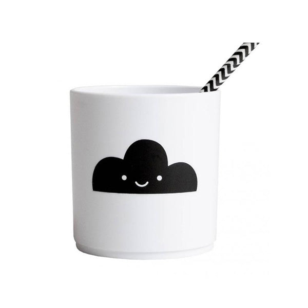Buddy and Bear Tumbler White Edition - Happy Clouds