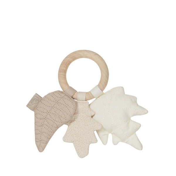 Cam Cam Copenhagen Leaves Rattle - Mix Natural