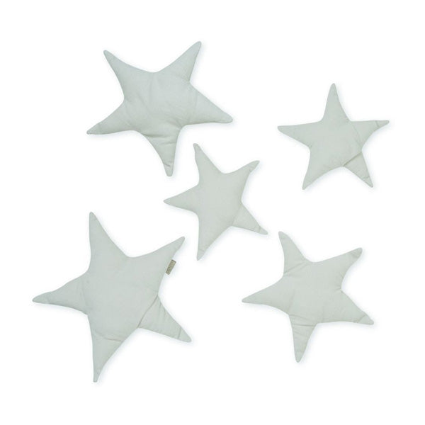 Cam Cam Copenhagen Wall Decoration Set of 5 Stars – Light Grey