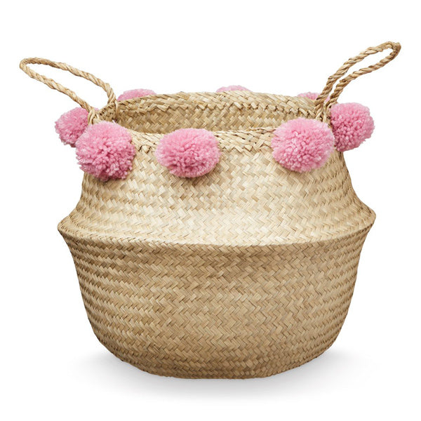 Cam Cam Copenhagen Pom Pom Belly Basket - Berry