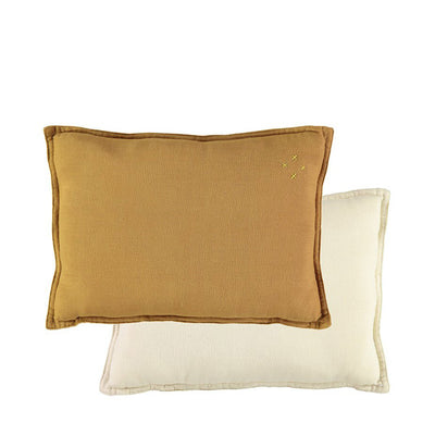 Camomile London Padded Cushion – Ochre/Champagne