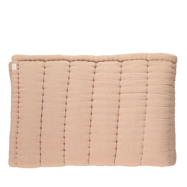 Camomile London Hand Quilted Blanket – Peach Blossom