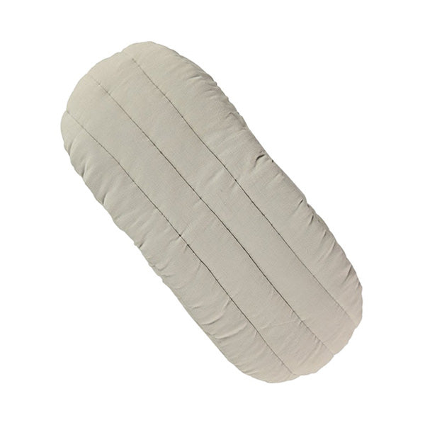 Camomile London Moses Basket Mattress Quilted Cover – Smoke Grey