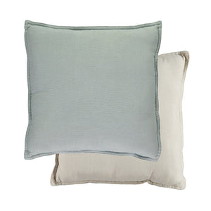 Camomile London Padded Cushion – Powder Blue/Stone