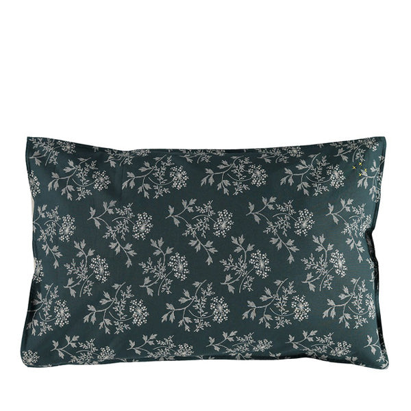 Camomile London Hanako Floral Pillow Case – Thunder Blue