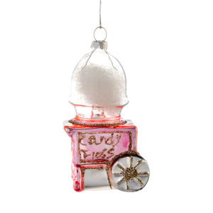 Glass Shaped Christmas Bauble - Candy Floss