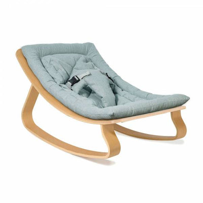 Charlie Crane LEVO Baby Rocker in Oak - Blue
