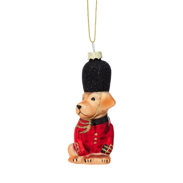 Glass Shaped Christmas Bauble - British Dog