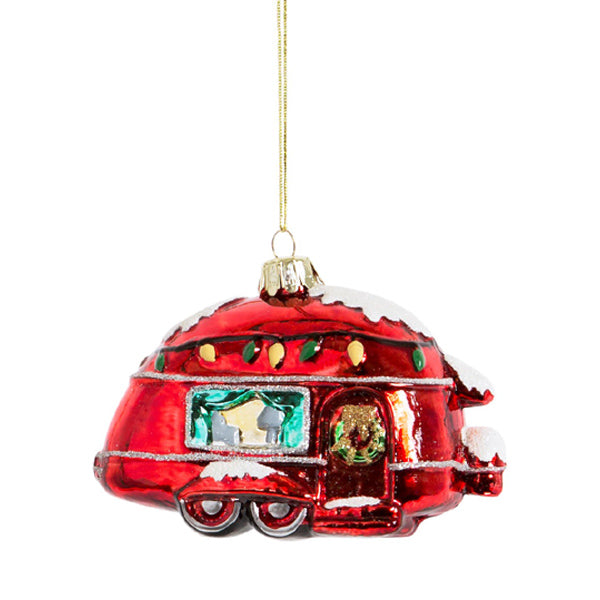 Glass Shaped Christmas Bauble - Christmas Caravan