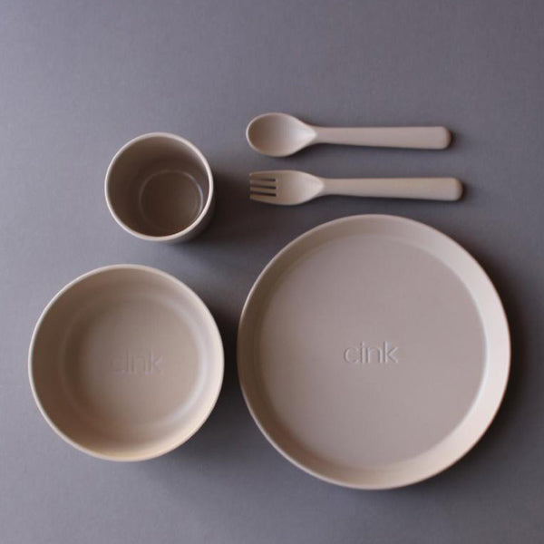 Cink Bamboo Dinnerware Giftbox for Toddlers – Fog