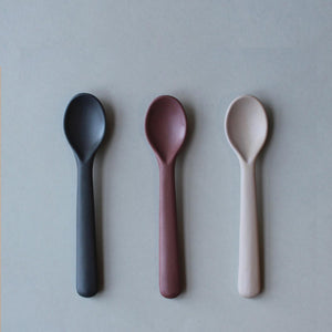 Cink Bamboo Toddler Spoon 3 Pack - Fog Beet Ocean