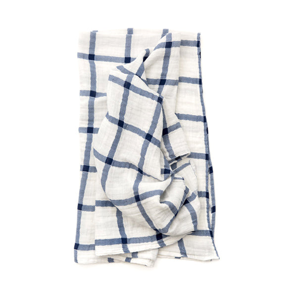Clementine Kids Swaddle – Navy Plaid
