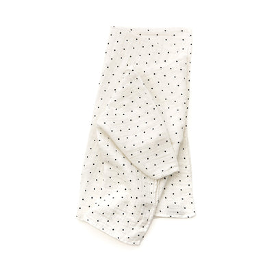 Clementine Kids Swaddle – Black and White Polka Dot