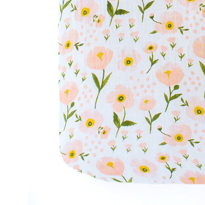 Clementine Kids Crib Sheet – Blush Bloom - Clementine Kids | Elenfhant