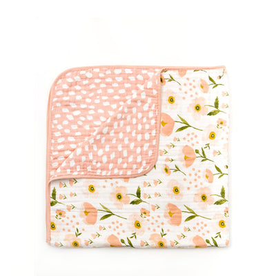 Clementine Kids Reversible Quilt – Blush Bloom - Clementine Kids | Elenfhant