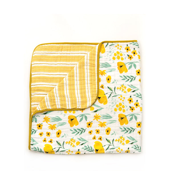 Clementine Kids Reversible Quilt – Buttercup Blossom