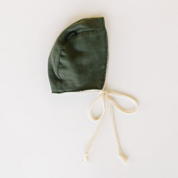 Clementine Kids Heirloom Bonnet – Deep Olive