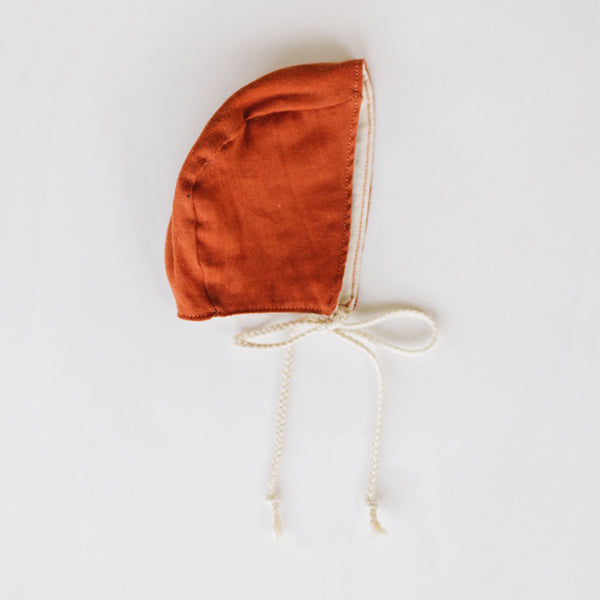 Clementine Kids Heirloom Bonnet – Paprika