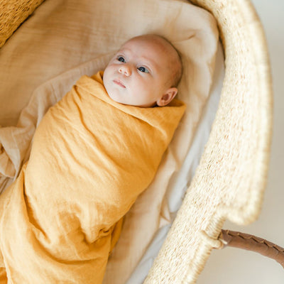 Clementine Kids Heirloom Swaddle – Butterscotch