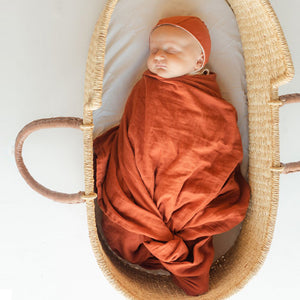 Clementine Kids Heirloom Swaddle – Paprika