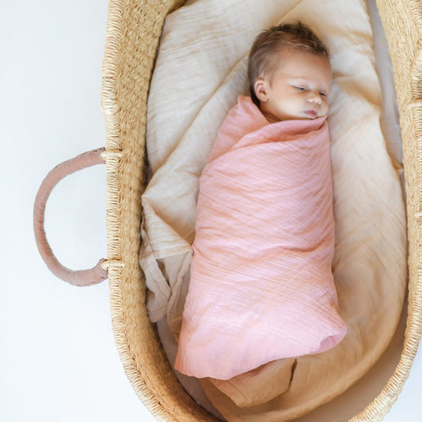 Clementine Kids Heirloom Swaddle – Grapefruit Pink