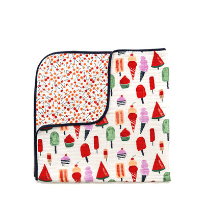 Clementine Kids Reversible Quilt – Ice Cream