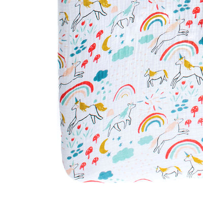 Clementine Kids Crib Sheet – Unicorn Land - Clementine Kids | Elenfhant