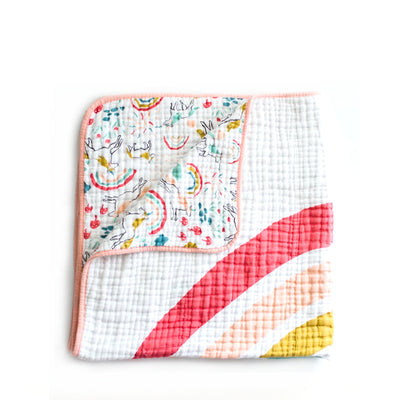 Clementine Kids Reversible Quilt – Unicorn Land