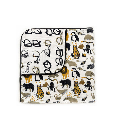 Clementine Kids Reversible Quilt - Zoology