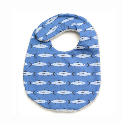 Don Fisher Navy Blue Fish Bib