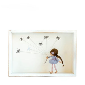 Dorimu Shadow Box Butterflies – White