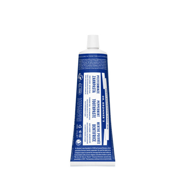 Dr. Bronner's Toothpaste Fluoride-Free 140gr - Peppermint